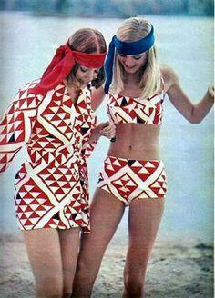 a8db2ec21079b71085585ad886408014 1970s beach wear makes me smile pinterest beach wearing,70s Swimwear Fashion