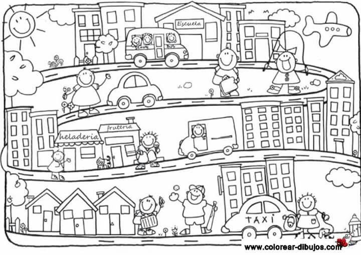 Pin By Claudia Mg On Campo Y Ciudad Coloring Pages Kindergarten Kids Preschool Activity