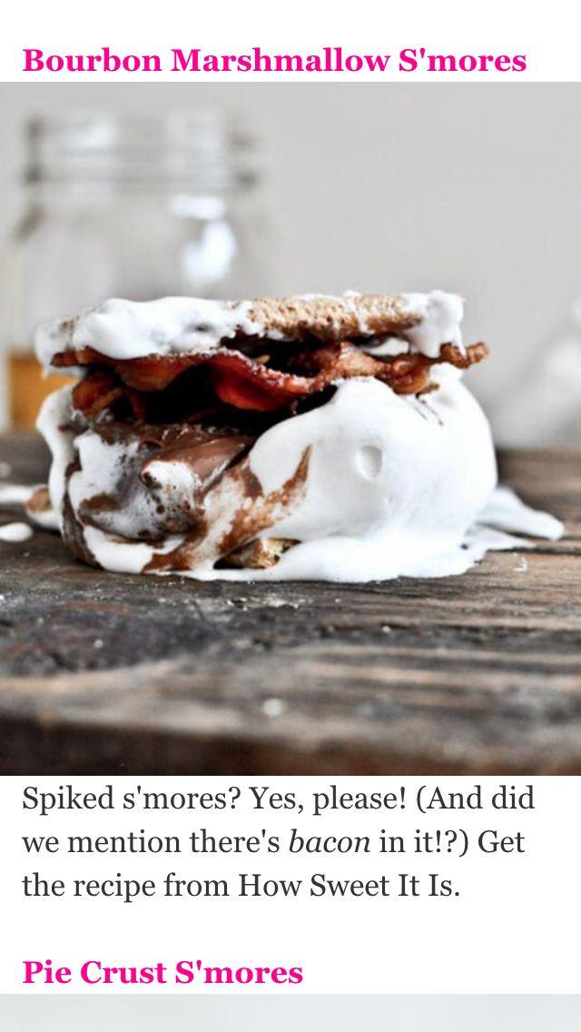 Bourbon marshmallow smore