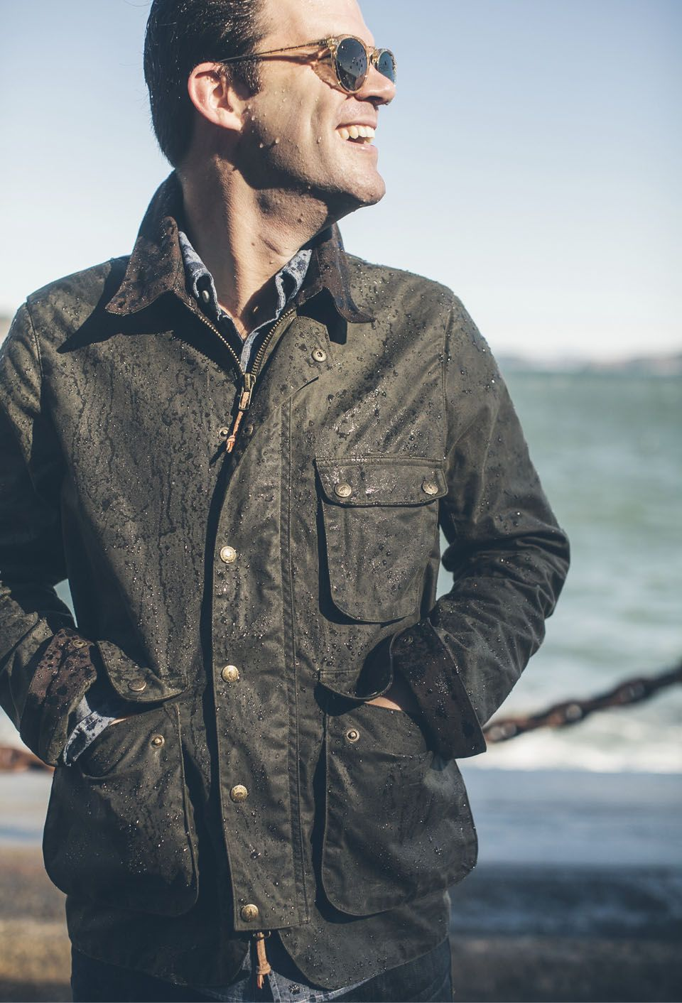 Weekly Edition The Rover Jacket In Waxed Cotton Jackets
