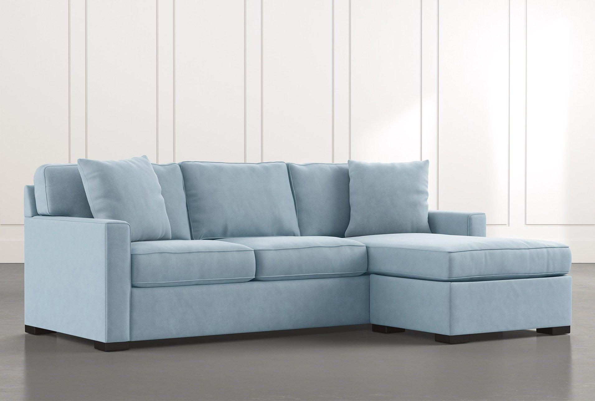 Taren Ii Light Blue Reversible Sofa Chaise Sleeper W Storage Ottoman Chaise Sofa Sectional Sofa Sofa