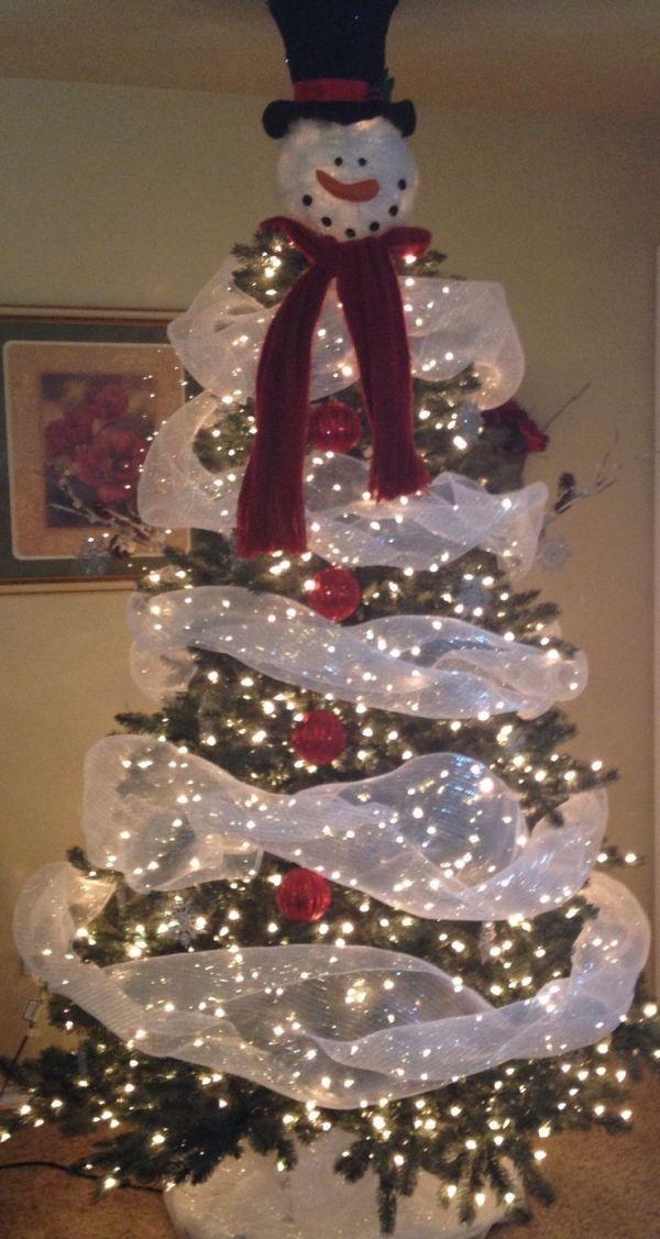 Snowman Christmas tree - 20 Stunning Christmas Tree Ideas And Inspiration Christmas Group