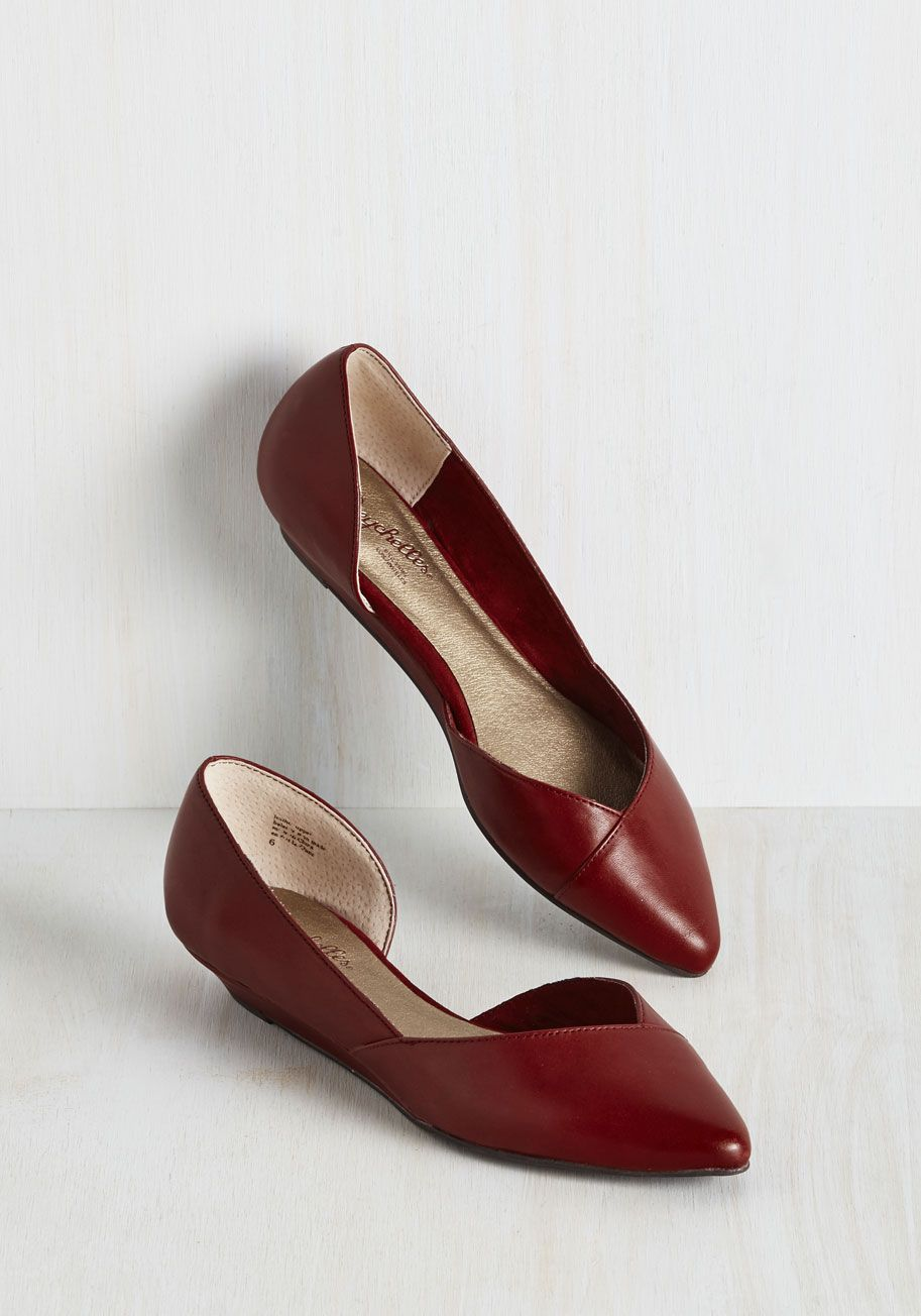 Spring Shoes - Advantage Wedge in Wine