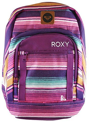 156a610eea5 Roxy Juniors New Deal Backpack Purple Stripes One Size    Click image to  review more