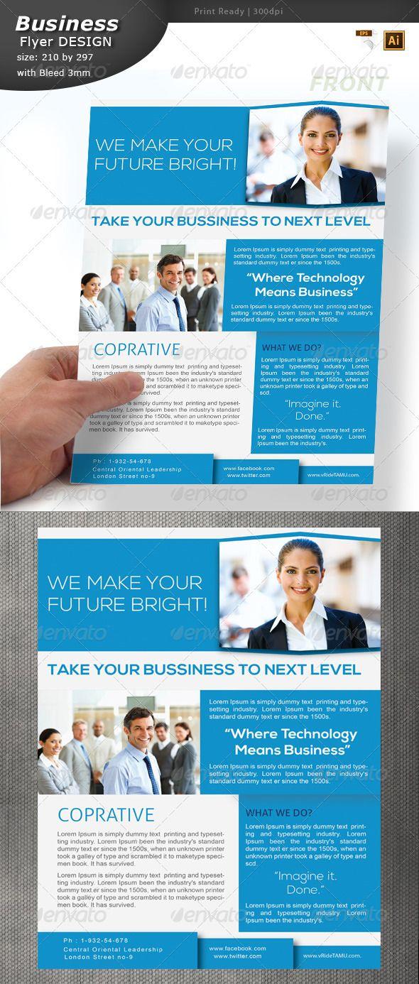 informational flyer design graphicriver card design pinterest