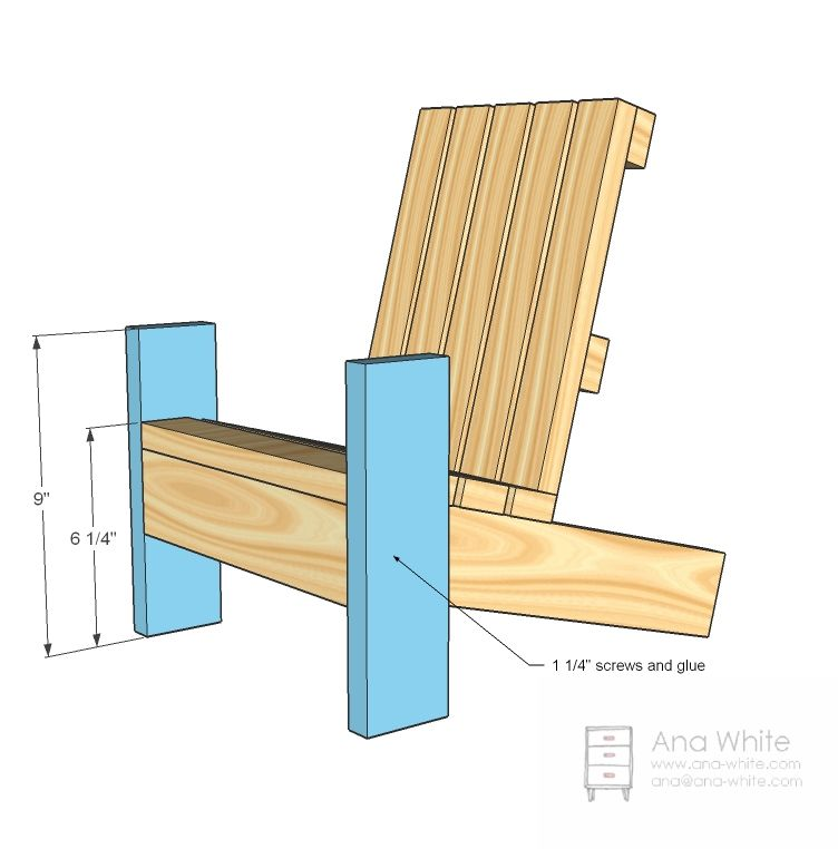 ana white build a fiona s doll adirondack chair free and easy