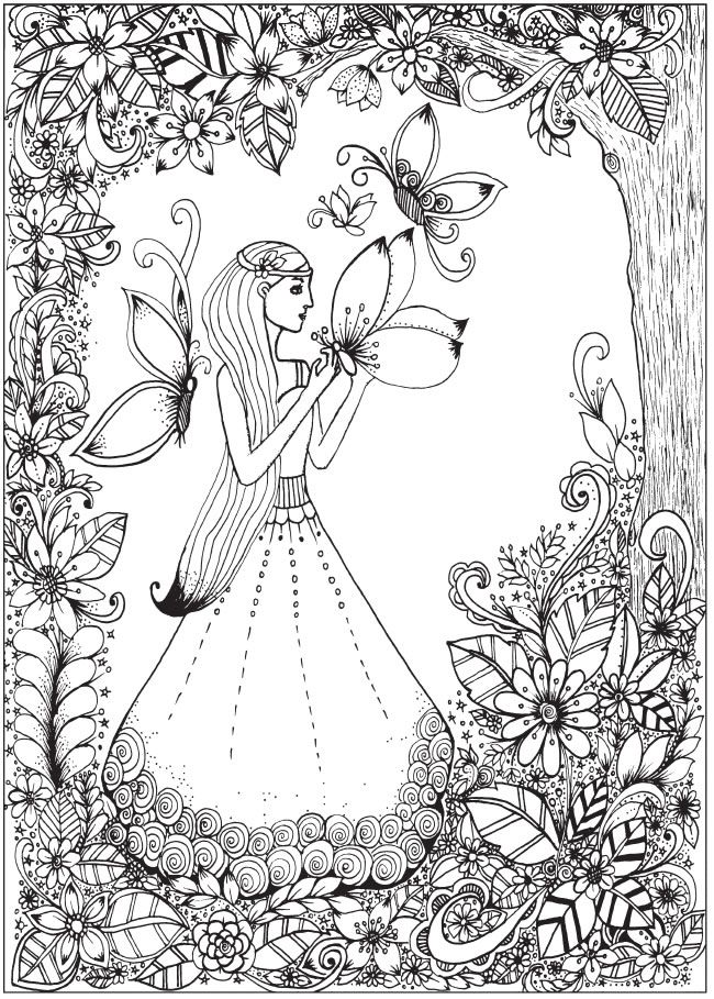 Creative Haven Belles and Blossoms Coloring Book @ Dover ...