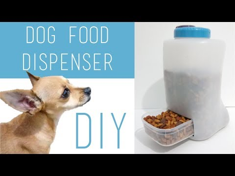 18 Diy Easy Puppy Dog Kitten Cat Food Dispenser Using Plastic Containers Youtube Diy Cat Food Pet Food Dispenser Food Dispenser