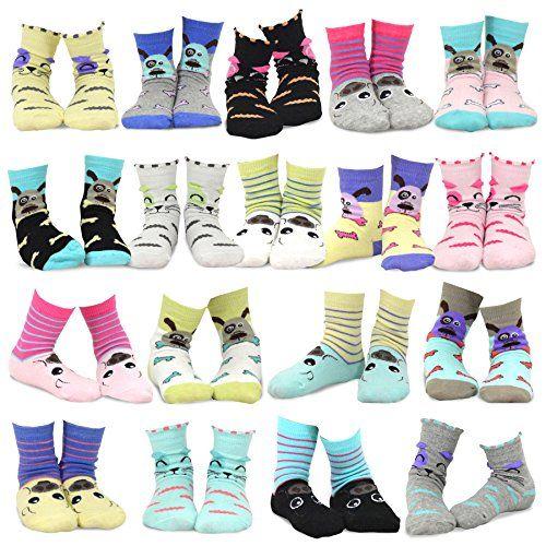 Kids Boys Fashion Cotton Crew 18 Pair Pack Gift Box TeeHee Naartjie
