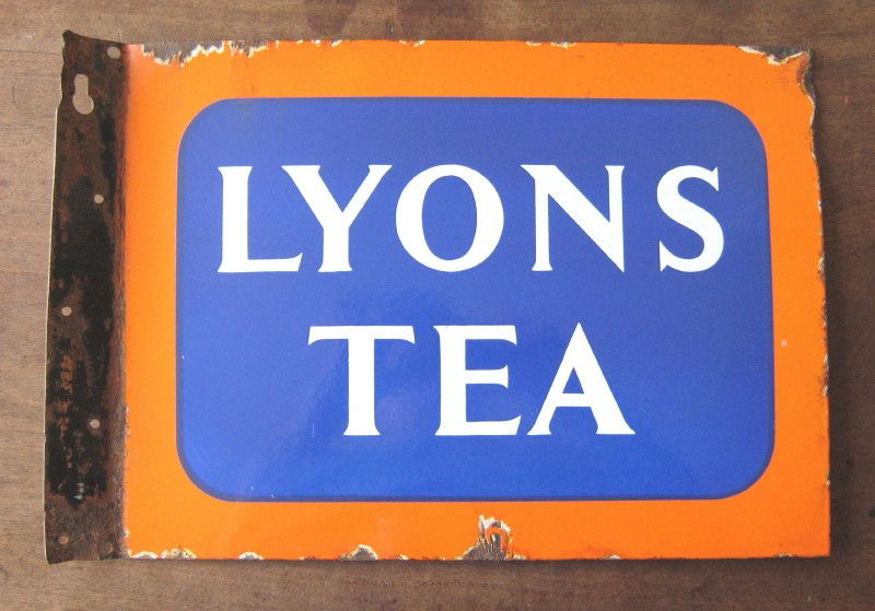 Lyons Tea - original vintage double-sided enamel advertising sign ...