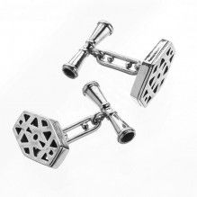 Sterling Silver Geometric Cuff Links
