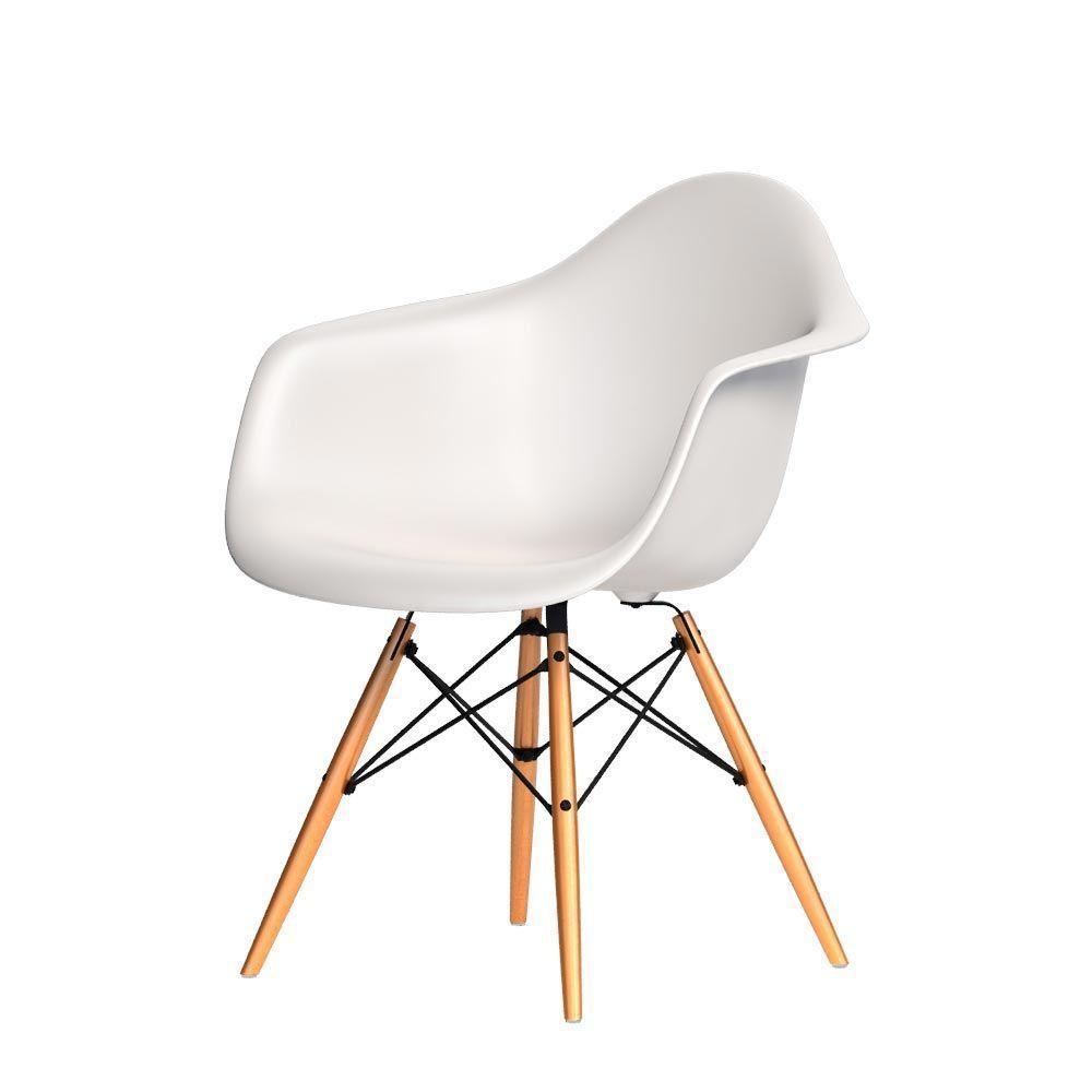 Vitra Eames Plastic Armchair DAW - Variante: Schale: creme| Gestell ...