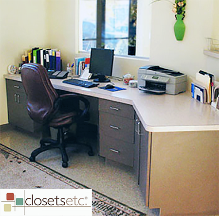 Reception Desk Custom Built In With Formica Top A Commercial Office