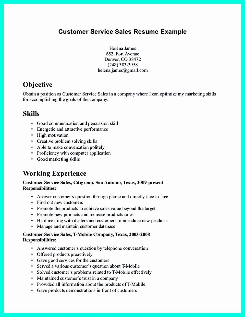 40 Entry Level Customer Service Resume in 2020 Sales