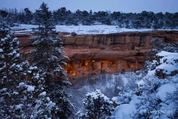 Mesa Verde lit up! Looking as it did in yhe past!!!