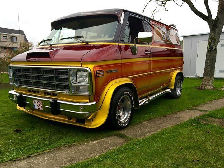 Custom 70 S Chevy Van Vans Personnalises Camionnette Voiture
