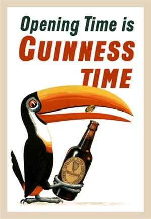 Have a Guinness When you/'re tired Vintage Beer Poster reproduction.