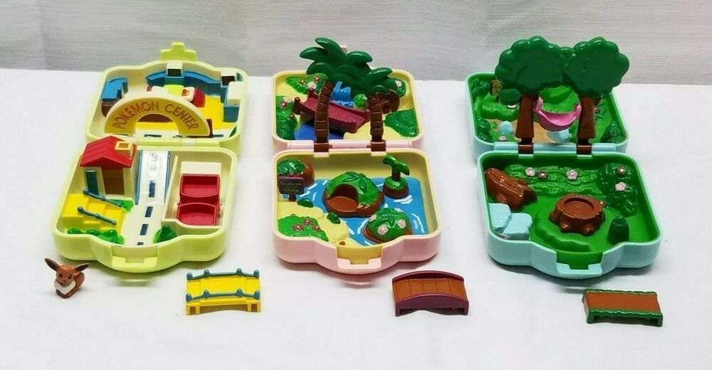 Vintage Nintendo Tomy Pokemon Center Polly Pocket Playset Mini Compact Toy Lot Tomy Playset Pokemon Pokemon Toy