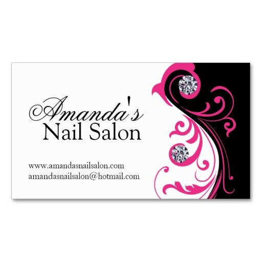 Stylish nail salon business cards i love this design it for Nails business cards design