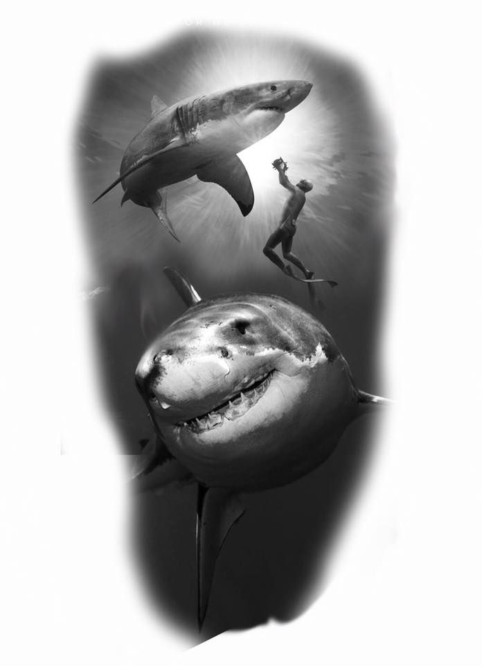 Pin de Eddie Lollis en Tattoo ideas | Pinterest | Tiburones ...