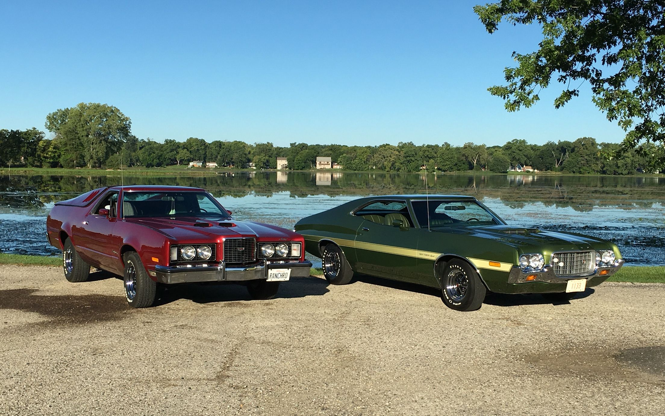 Classic 70 S Fords At Yesterday S Lakemoor Charity Car Show 1972 Ford Gran Torino Sport 1979 Ford Ranchero Con