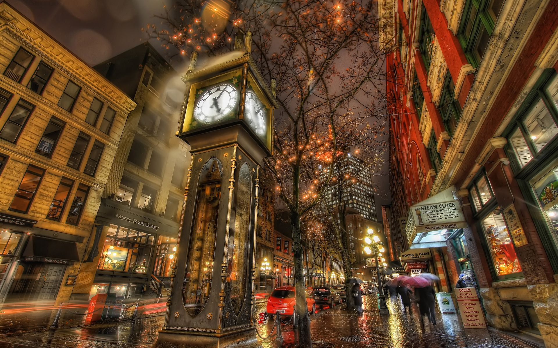 Photography Place Hdr Canada City Vancouver Rain Night Light House