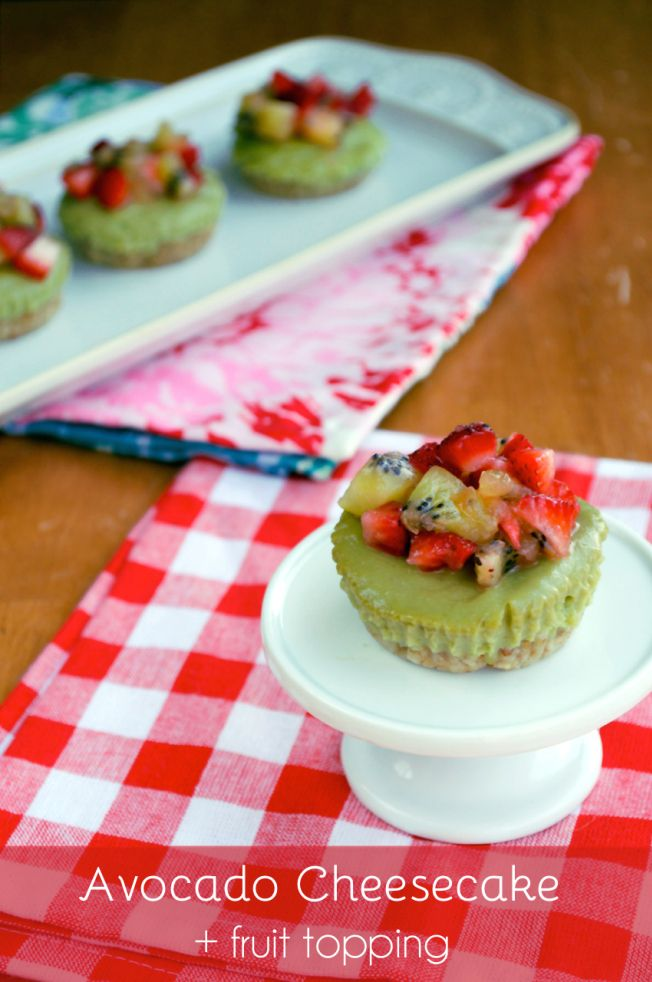 Avocado Cheesecake with Fruit Topping   Plaid and Paleo
