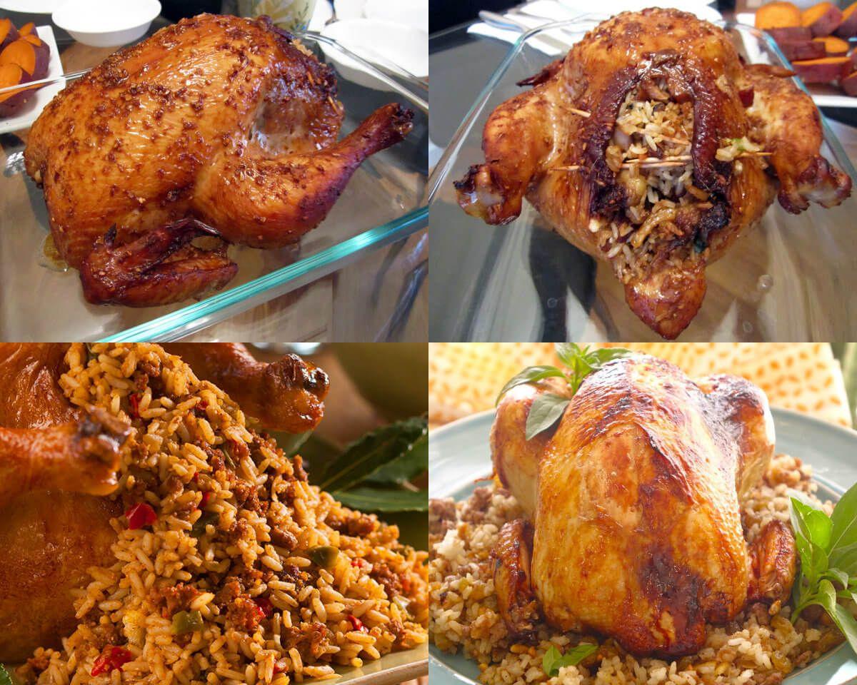 عالم الطبخ والجمال طريقة عمل الدجاج المحشي المحمر على الطريقة الفلسطينية Palestinian Food Cooking Recipes Food