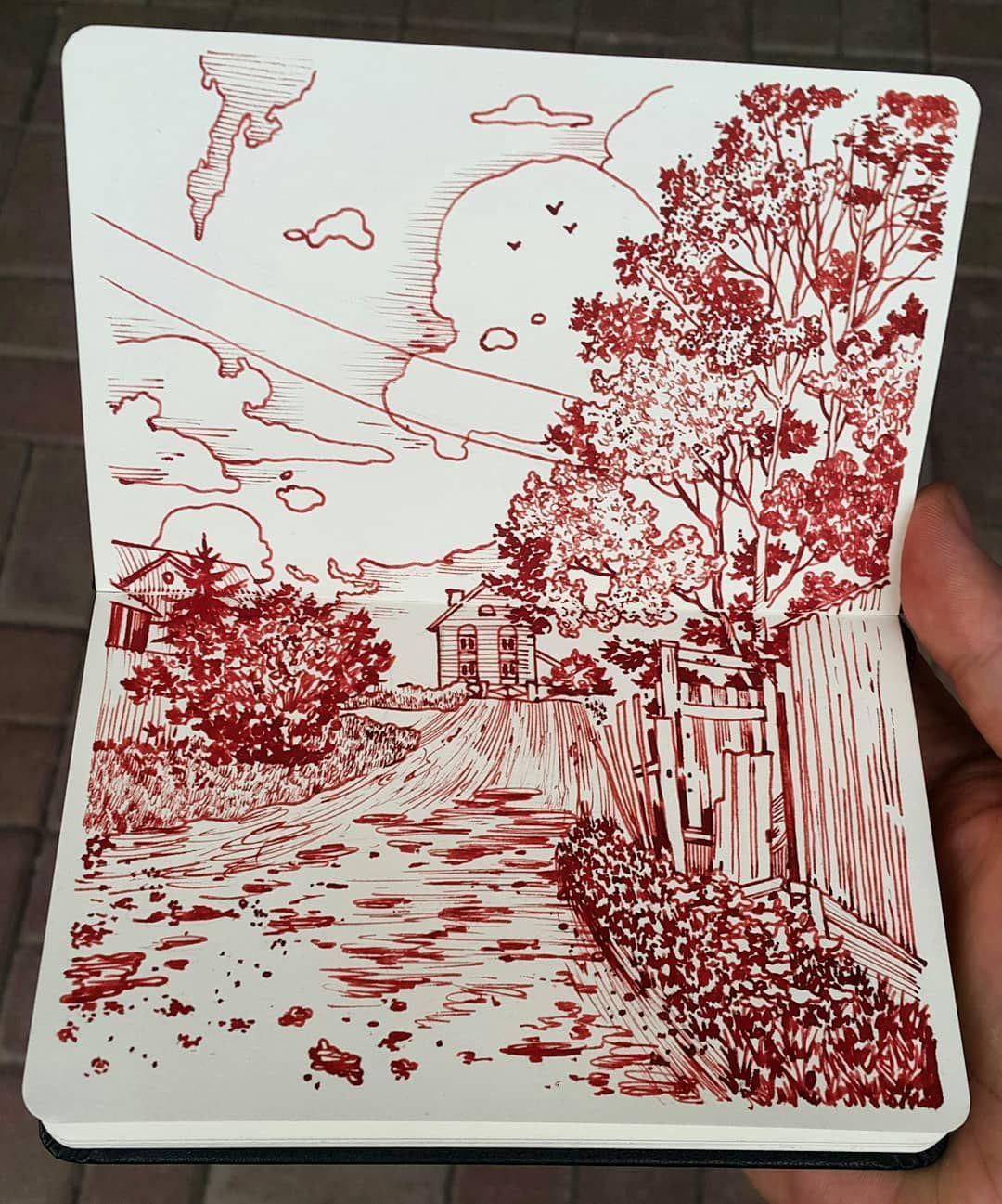 Dorozhka Vverh Path To The Top Evening Sketch Moleskine Twsb