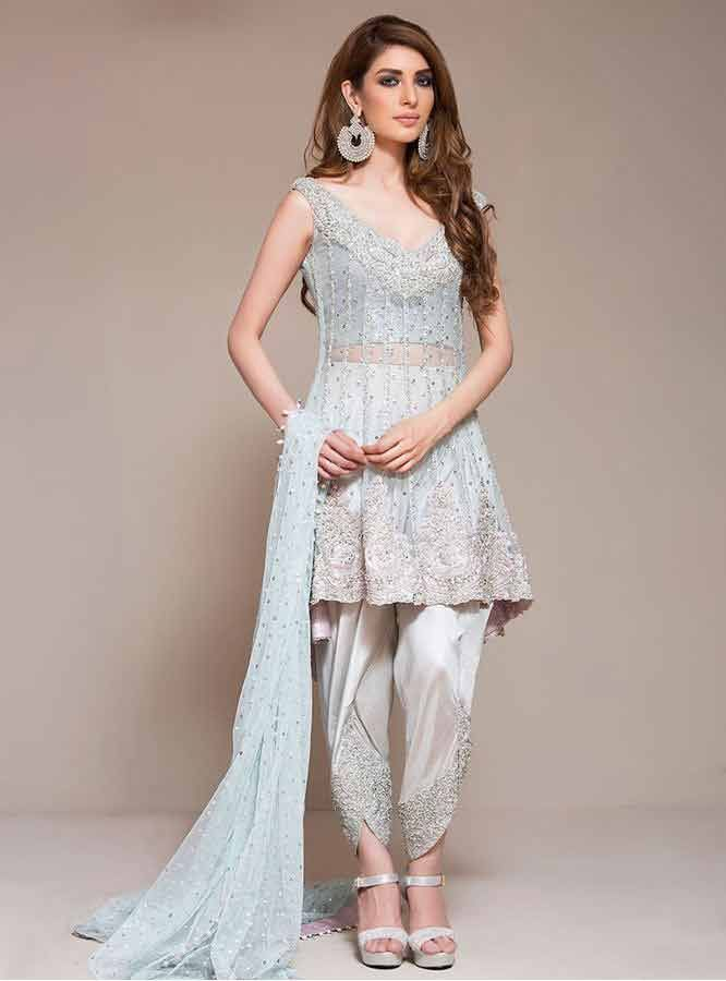 3426f11d0a Wedding And Party Wear Short Frocks With Sharara 2017 Pakistani Fashion  2017, Pakistani Dresses 2017