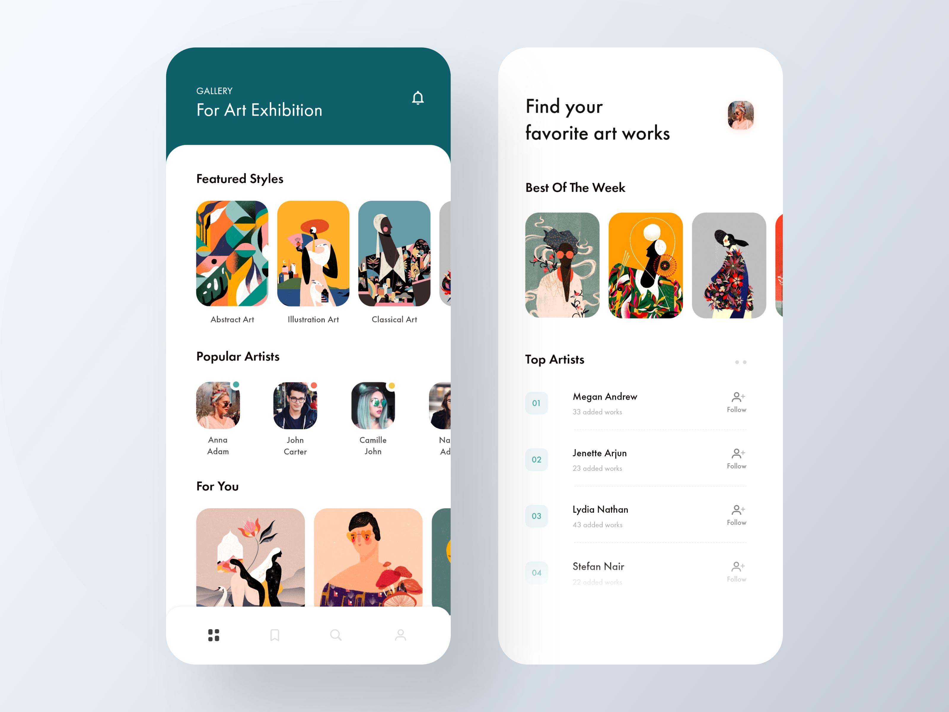 Art Gallery App App Design Inspiration App Design App Design Layout