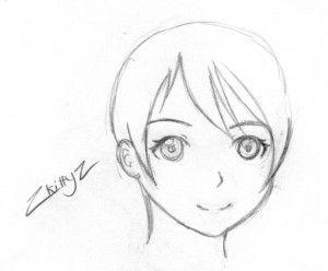 Short hair manga style