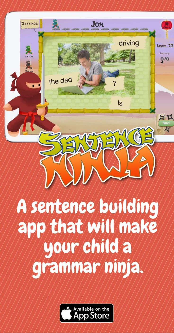 A Sentence Building App That Will Make Your Child A Grammar Ninja Tap The Link To Check Out Great Fidgets And Sensory T Sentence Building Sentences Autism Apps [ 1402 x 735 Pixel ]
