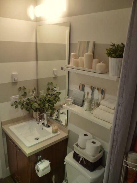35 Baños pequeños y funcionales hotel Pinterest Baño pequeño - decoracion baos pequeos