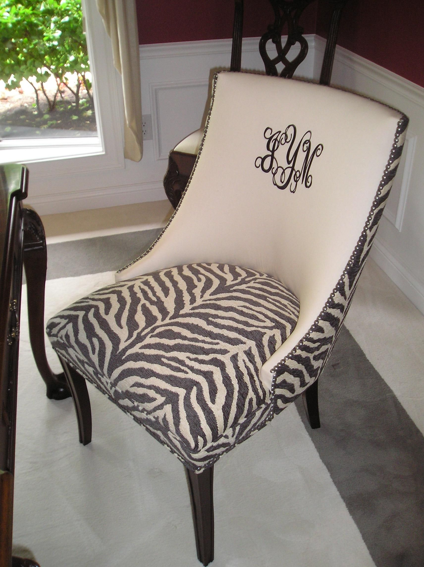 Zebra Chair Made By Hickory Chair Animal Prints Faux