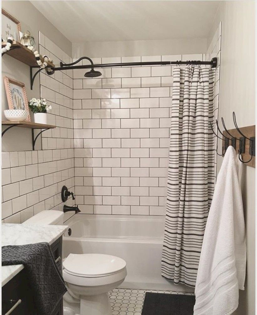39 Cozy Bathroom With Subway Tile Shower Ideas In 2020 Diy Bathroom Makeover Kids Bathroom Makeover Bathrooms Remodel