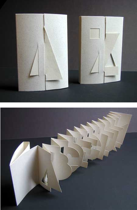 Alphabook 3 By Scott Mccarney Typography Alphabet Paper Book Book Sculpture Handmade Books