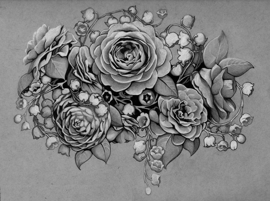 Tattoo Design Camellias And Lilies Of The Valley By Admhire Deviantart Com On Deviantart Rose Vine Tattoos Tattoos Tattoo Designs