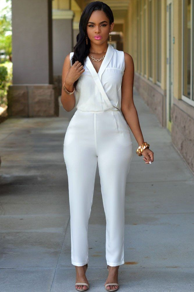 Luxe White Jumpsuit Latest Greatest Pinterest White Jumpsuit
