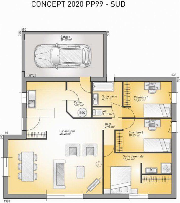 Plan maison neuve à construire - Maisons France Confort Concept 2020