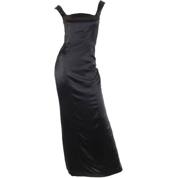 1990s Gianni Versace Couture Satin Gown ($2,600) ❤ liked on ...