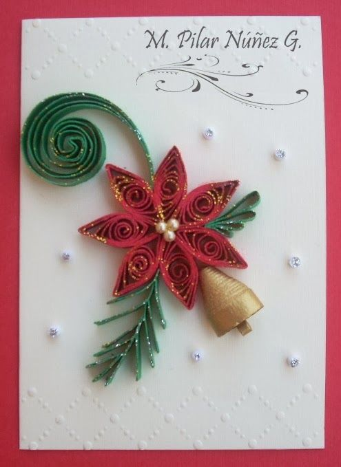 Quilled Christmas Card Quilling Christmas Quilling Christmas