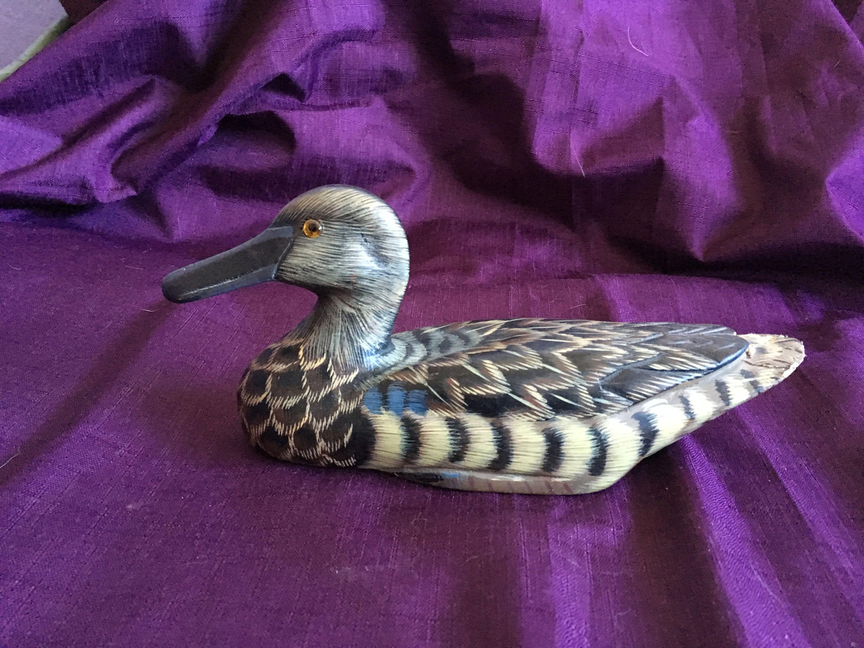 Antique Wooden Female Mallard Duck Wood Duck Decoy Collection