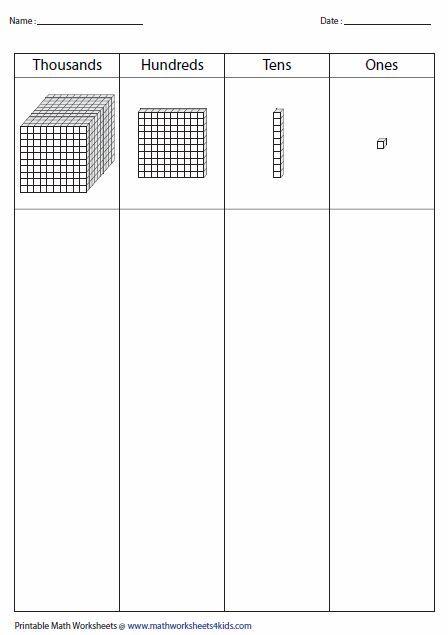 Place Value Mats More Place Value Worksheets Base Ten Blocks Base Ten