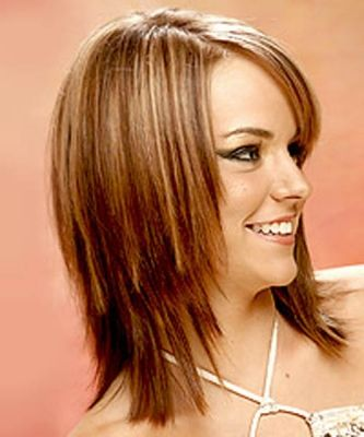 For women with straight hair, it would be an excellent candidate for a hair cut medium length. Description from hairstyleforwedding2013.blogspot.com. I searched for this on bing.com/images