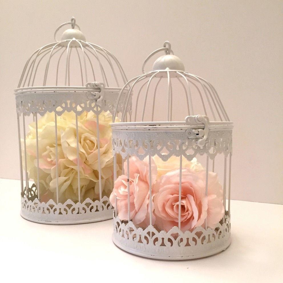 2 jaulas decorativas vintage 19x31 cm y 15x21 cm - Comprar decoracion vintage ...