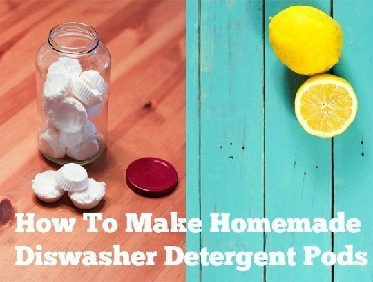 How To Make Homemade Dishwasher Detergent Pods Homemade