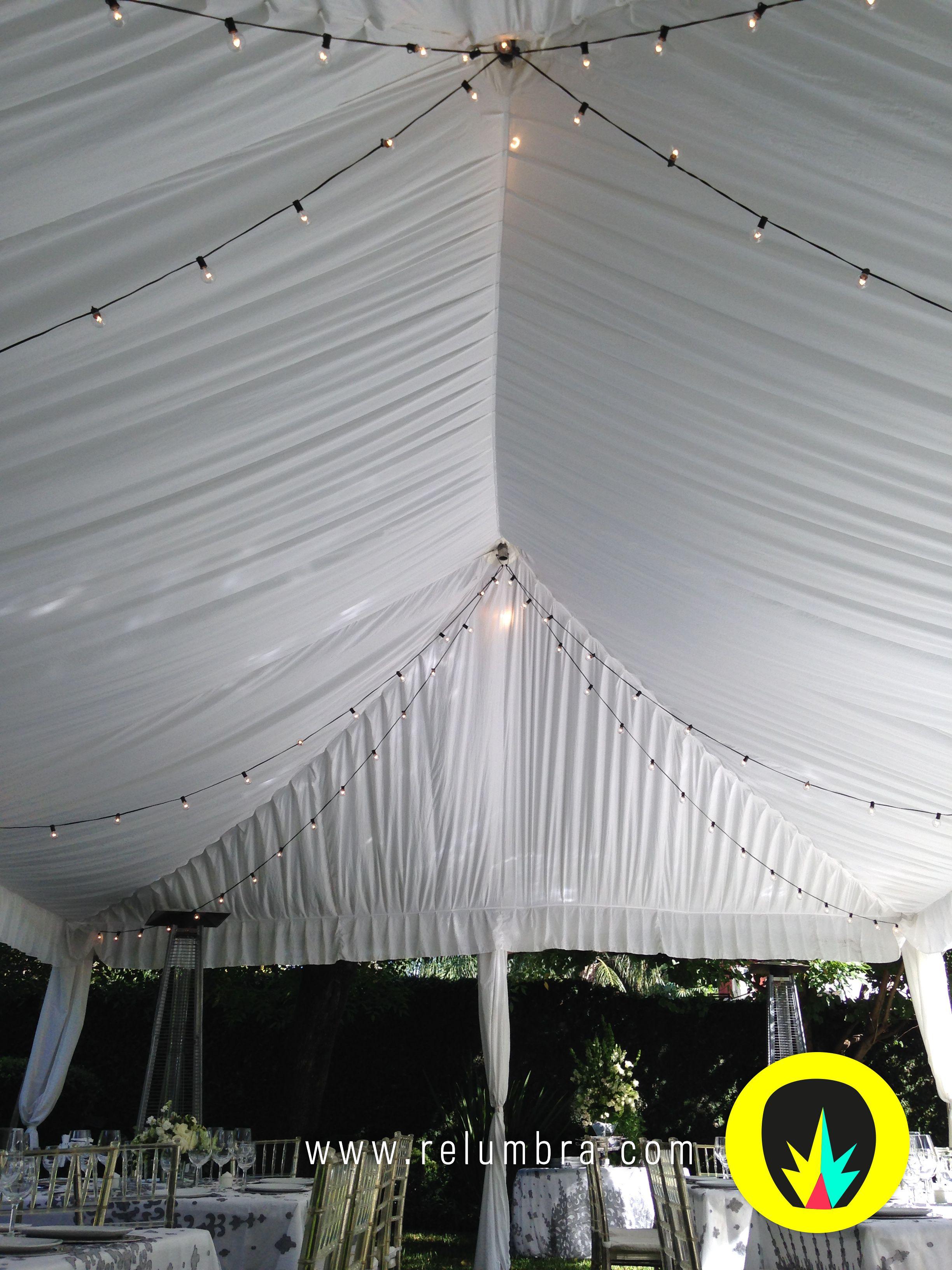 Rieles de luz relumbra para decorar toldos o salones para for Rieles para toldos correderos