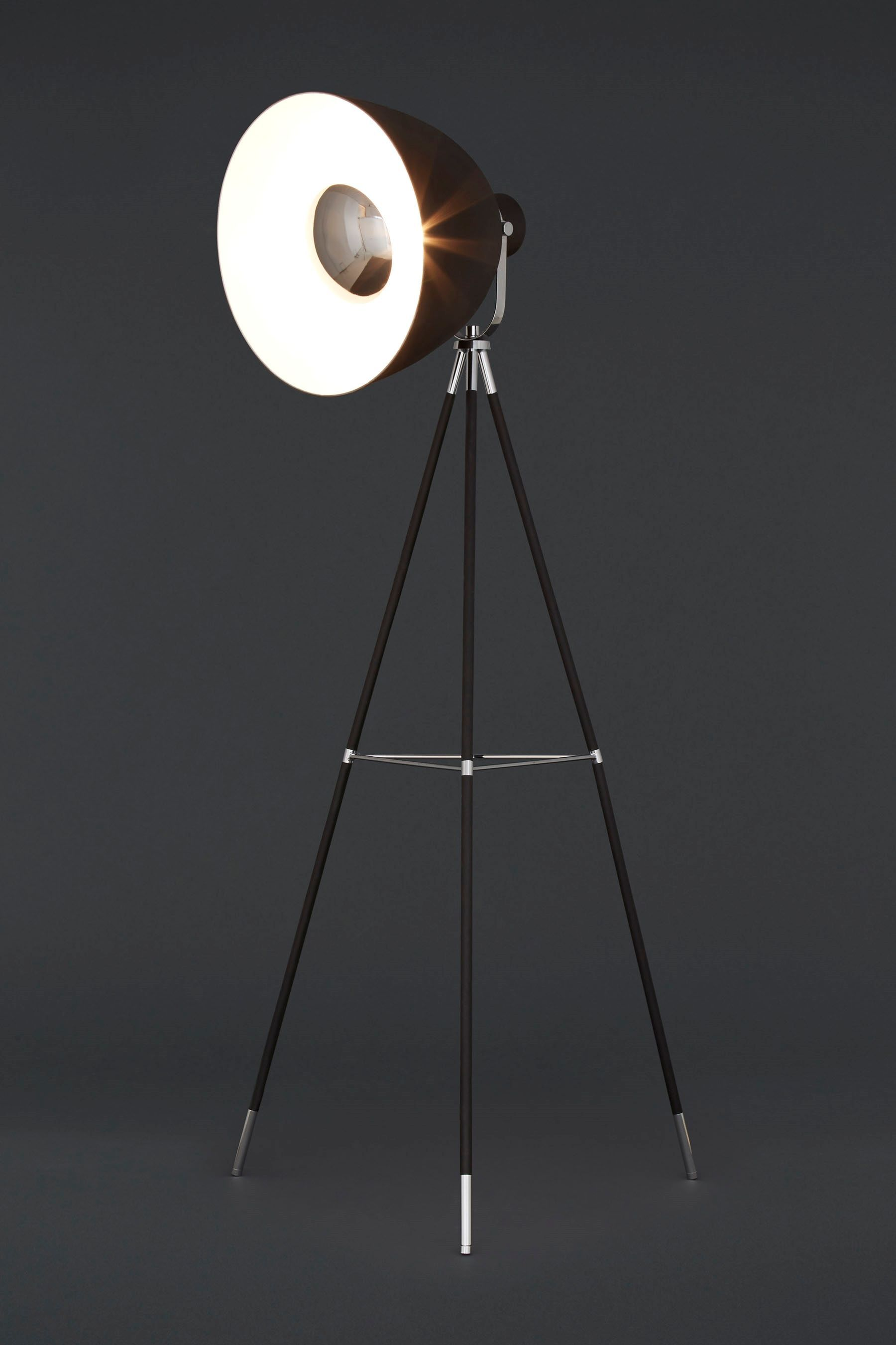Buy studio black and chrome tripod floor lamp from the next uk buy studio black and chrome tripod floor lamp from the next uk online shop aloadofball Choice Image