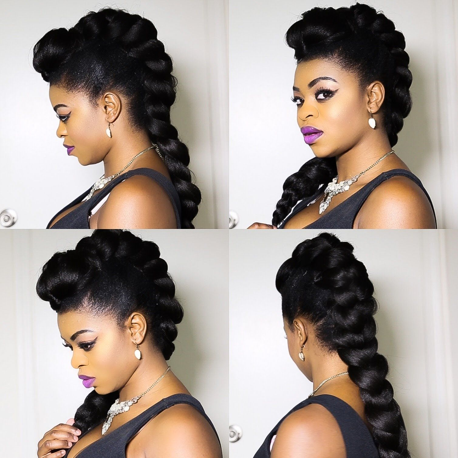 African naturalistas how to style your natural hair mohawk - Faux Braided Mohawk On Natural Hair
